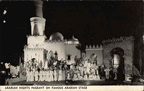 (Arabian Nights Pageant on Famous Arabian Stage Riverside, California Original Vintage Postcard)
