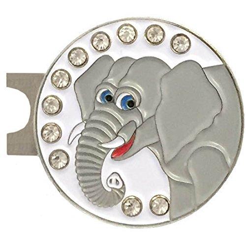 Giggle Golf - Bling Elephant Ball Marker & Hat (Elephant Golf)