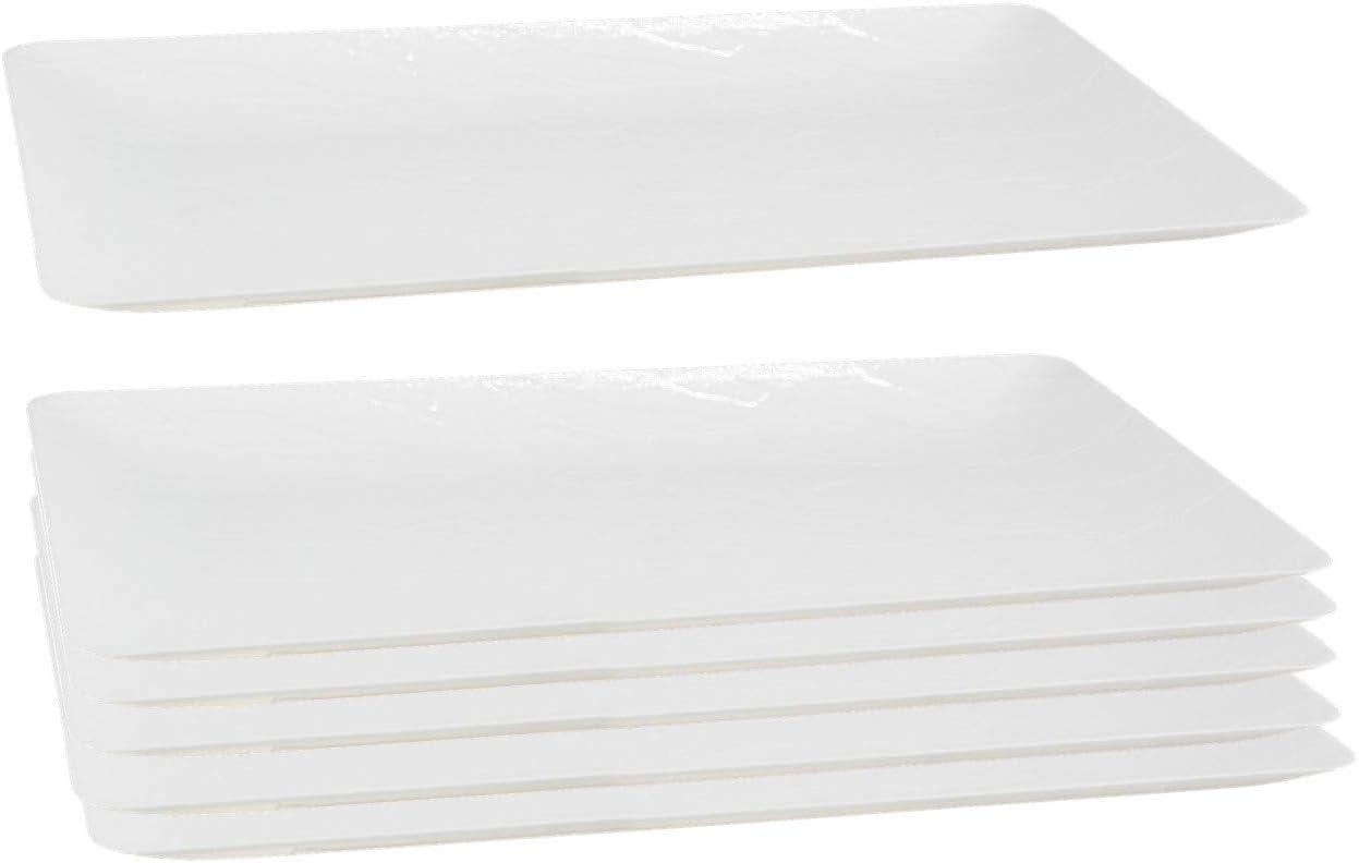 Posh Setting White Wood Grain Pattern, Disposable Premium Durable Plastic, 17