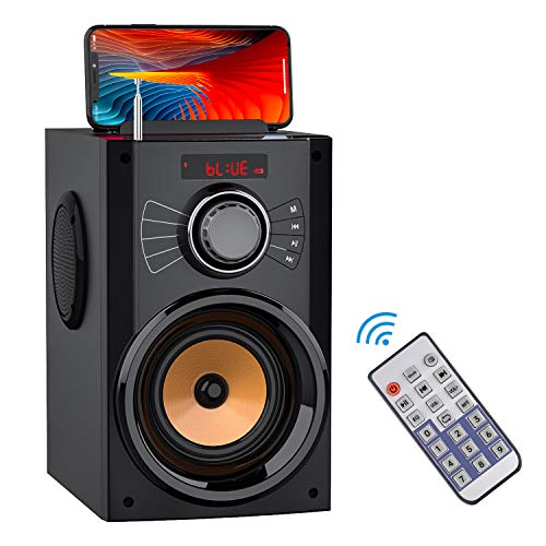 🥇 Portable Bluetooth Speakers with Subwoofer Rich Bass Wireless Stereo Outdoor Speakers Support Remote Control FM Radio TF Card LED Lights MP3 Player Powerful Speaker for Home Party iPhone Computer PC