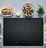 PP7030DJBB 30' Built in Electric Cooktop with 5 Radiant Cooking Elements, Front Center Control Knobs, Hot Surface Indicator, Keep-Warm Setting and Melt Setting in Black