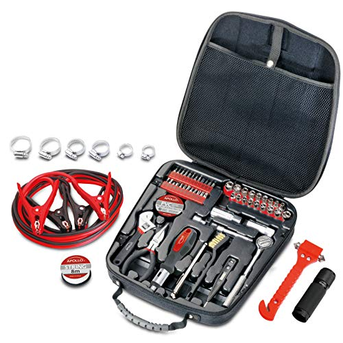 Compact Travel Tool - Apollo Tools DT0101 Travel & Automotive Tool Kit, 64-Piece