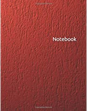 Notebook: Unruled red diary, blank journal unlined 8.5 x 11 without lines for drawing, doodling, sketching, journaling and creative writing - wall texture cover