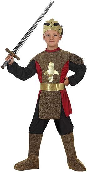 Atosa-19634 Caballero Medieval Disfraz Rey, Color Dorado, 5 a 6 ...