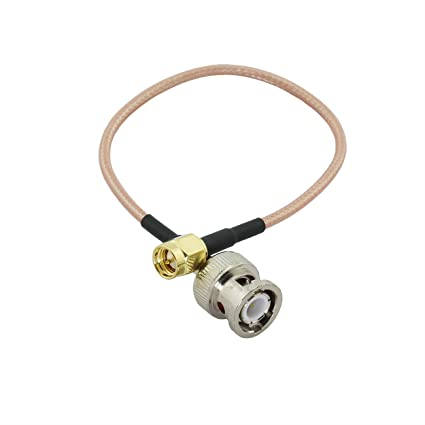 Maxmoral 1PCS SMA-BNC RG316 Coax Cable BNC Male Plug to SMA Male Jack RF