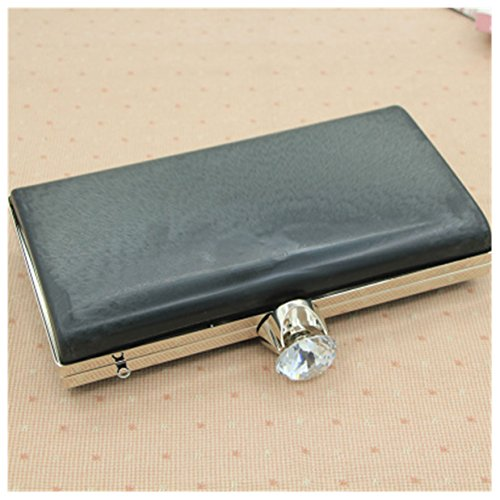 Ownstyle Size 21.5 With Big Clasp Plastic Box Clutch Purse Frame Bag Accessories Wholesale Plastic Bag Handle Purse Frame Silver Color ()
