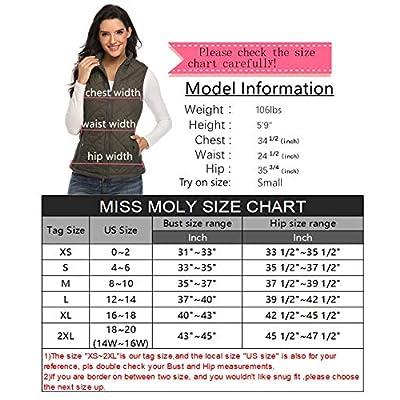 MISS MOLY Women Lightweight Quilted Padded Puffer Vest Stand Collar Zip Up Winter Outwear Gilet at Women's Coats Shop