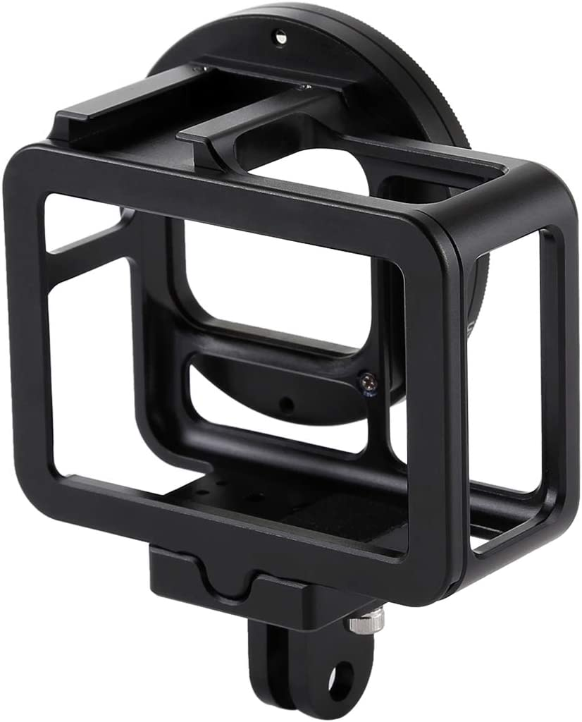 Durable Color : Red CAOMING Housing Shell CNC Aluminum Alloy Protective Cage with Insurance Frame /& 52mm UV Lens for GoPro HERO7 Black //6//5 Black