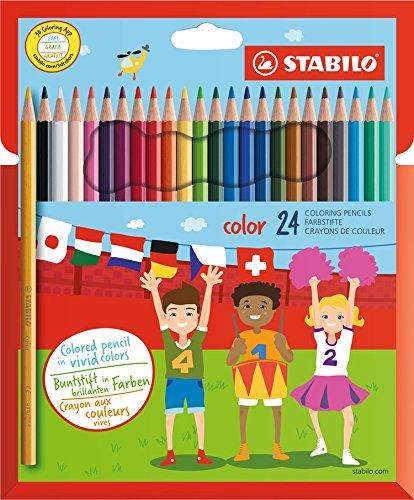 STABILO color matite colorate colori assortiti - Astuccio da 24 Stabilo International GmbH 1924/77-11