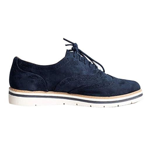 Zapatos de Cuero Casual Mujer Zapatos Planos con Cordones Mujer Oxford Vestido Mocasines Zapatos de Negocios Hechos a Mano Mocasines de conducción de ...