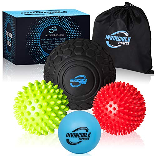 Invincible Fitness Massage Balls Set for Deep Tissue Muscle Restoration, Perfect for Myofascial Launch, Trigger Point Remedy, Mobility and Plantar Fasciitis – DiZiSports Store