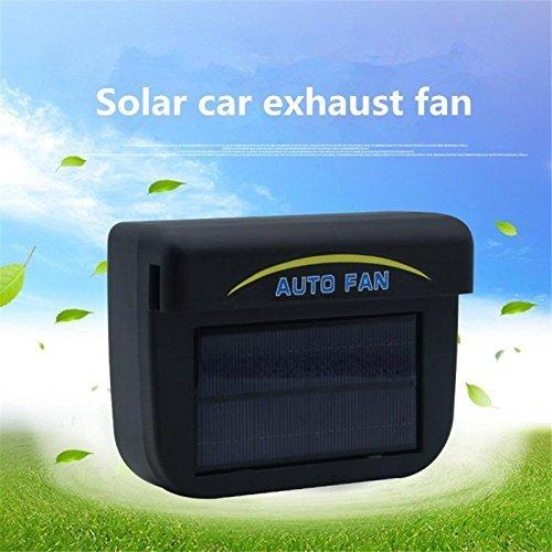 Leoie Solar Powered Car Auto Cooler Ventilation Fan Automobile Air Vent Exhaust Heat Fan with Rubber Strip Suit for Most Car Window (0.8W)