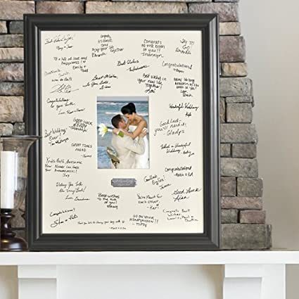 Amazon.com - Personalized Signature Frame w/Plate - Single Frames