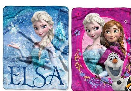 Disneys Frozen Elsa Palace Silk Touch Throw Blanket and Spring Zing Silk Touch Throw Blanket Set, 40x50 by (Elsa Palace Throw)