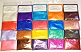 MYO 10 Assorted Colors (2) Gram Bags Mineral Mica Powder Cosmetic Grade For Epoxy, Slime, Paint, Cosmetic, Nail Art, Resin Jewelry, Artist, Acrylic and other Craft Projects. Set A