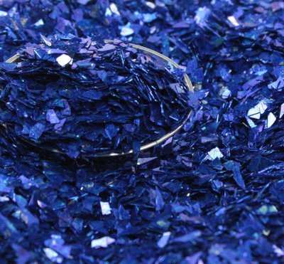 Dark Blue Authentic Imported German Super Shard Glass Glitter - Largest Grain Size - SSG-Dark Blu