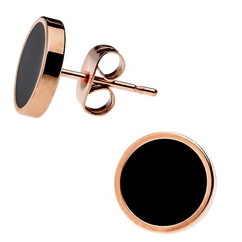 Negro disfraz Punk mivall tornillos Screw pendientes de diámetro 7 ...
