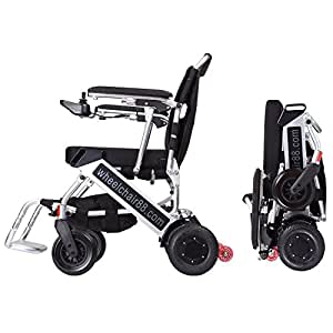 The lightest & most compact power chair in the world, Foldawheel PW-999UL at only 45 lbs (comes with Extendable Footrest + travel bag + Polymer Li-ion Battery) . Motorized & foldable in few seconds.