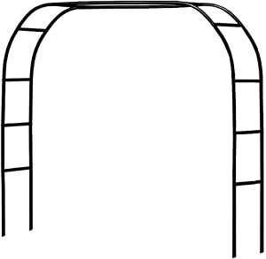 Metal Pergola Arbor,7.5 Feet Wide x 6.4 Feet High or 4.6 Feet Wide x 7.9 Feet High,Assemble Freely 2 Sizes,for Various Climbing Plant Wedding Garden Arch Bridal Party Decoration Wide Arbor