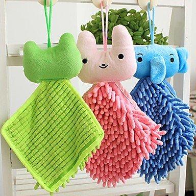 chenille lindos animales toallas bufanda colgante mano de color al azar, 20x20x1cm: Amazon.es: Hogar