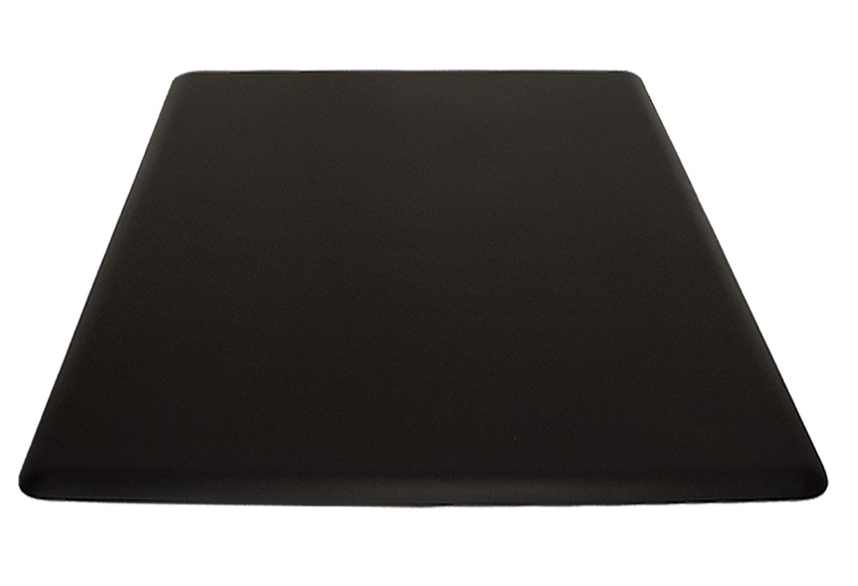 IC Urethane 4.5' x 4' x 3/4'' Anti-Fatigue Salon Barber Rectangular Mat NO Depression In BLACK, +FREE Cutting Cape ($26 value). BEST Mat in the Industry!