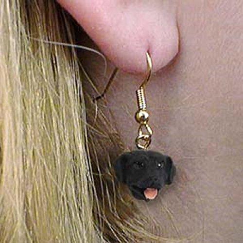 Conversation Concepts Labrador Retriever Black Earrings Hanging