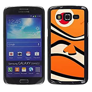 LECELL--Funda protectora / Cubierta / Piel For Samsung Galaxy Grand 2 SM-G7102 SM-G7105 -- Fish Tiger Cartoon Kids Ocean --