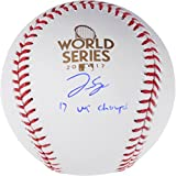 George Springer Houston Astros 2017 MLB World Series Champions Autographed Logo Baseball with 2017 WS Champs Inscription - Fanatics Authentic Certified