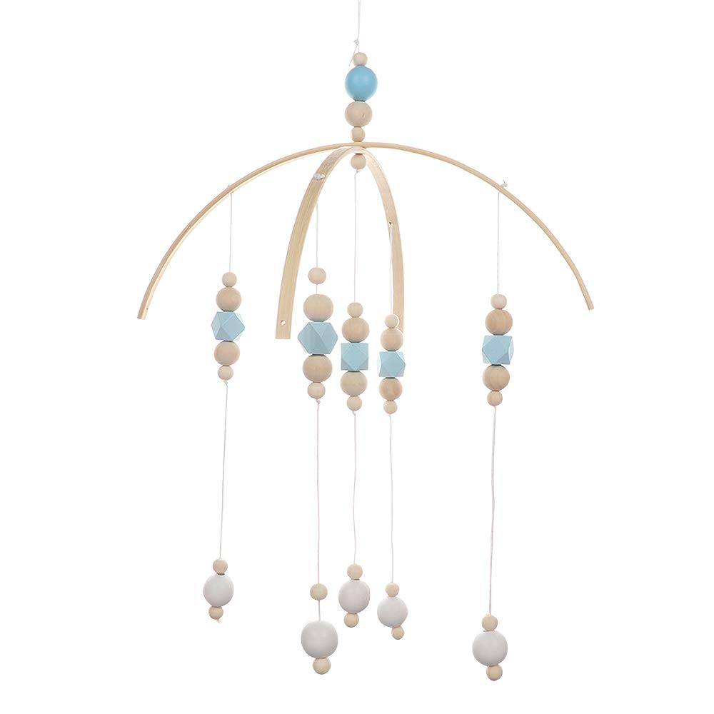 BELUPAI Wooden Wind Chime Nordic Style Baby Bed Bell,Rotate Bracket Hanging Bell Ornament Pendant