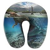 Fishing Lure Washable Cover Neck Pillow Spa Memory Foam U-SHAPE Sleeping Man