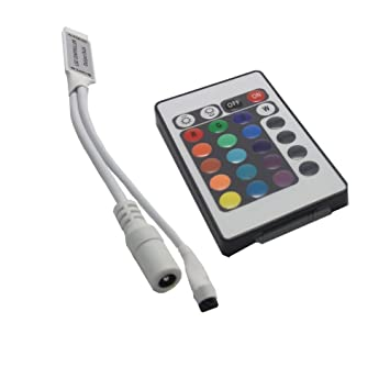 Amazon mini 24 key remote controller sunface euro led mini 24 key remote controller sunface euro led strip light accessories dc 5 mozeypictures Image collections