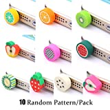 Anti Dust Plug Charms,SHZONS™ 10PCs/Pack Super Cute Fruits 3.5mm Earphone Ear Cap Anti-dust Plug Stopper for iPhones,Smartphones and Other 3.5mm Earphone Jack(Pattern in Random)