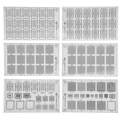 Solder Mask Net Reball Stencil, Solder Mask Ink, UV Flashlight, Green Oil for CPU Repair BGA Chip Paint-Shedding With Storage Box(#2)