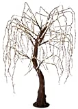 Arclite NBL-TW-190 Meadow Weeping Willow Tree, 7' Height, with Natural Brown Trunk, Clear Crystals and Warm White Lights