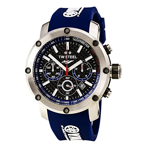 TW Steel Yamaha Factory Chronograph Racing Blue Silicone Mens Watch TW925