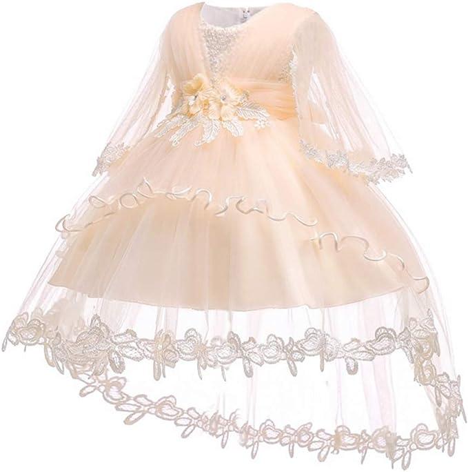 Vestido Fiesta Niña Manga Larga Falda Princesa Bebé Disfraz De ...
