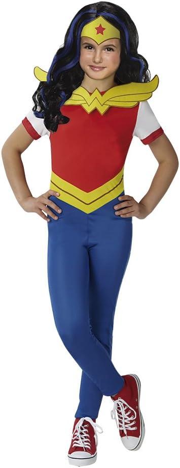 DC Comics - Disfraz de Wonder Woman para niña, incluye peluca ...