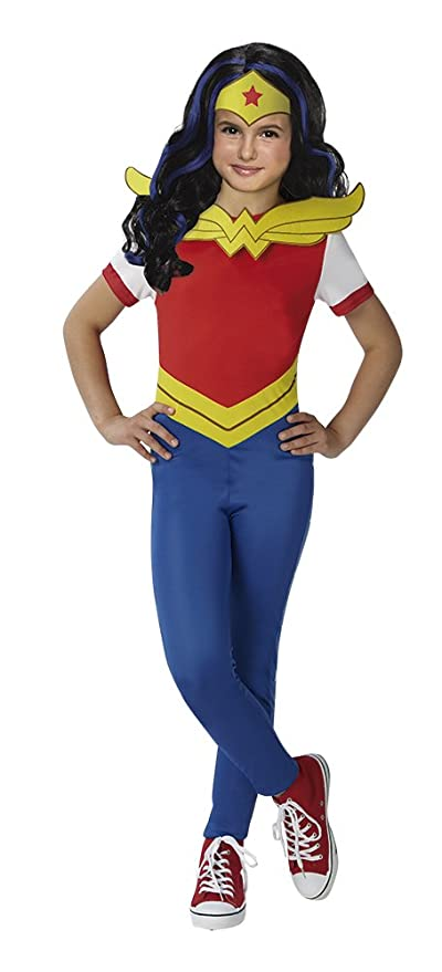 DC Comics - Disfraz de Wonder Woman para niña, incluye peluca - infantil 5-