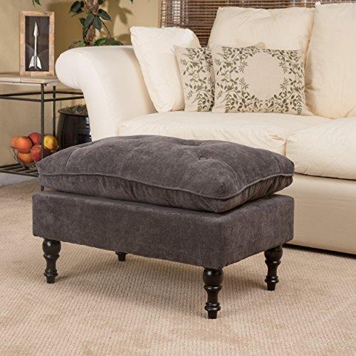 Cordoba Storage Ottoman - Great Deal Furniture 211693 Cordoba Grey Tufted Fabric Ottoman,