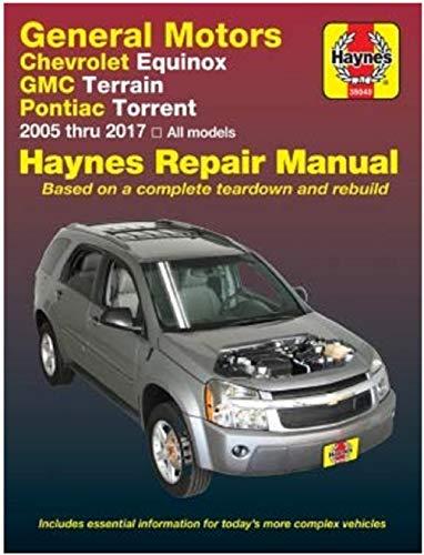 Haynes Repair Manual 38040 for GMC Terrain, Chevrolet Equinox & Pontiac Torrent - Parts Gmc Manual