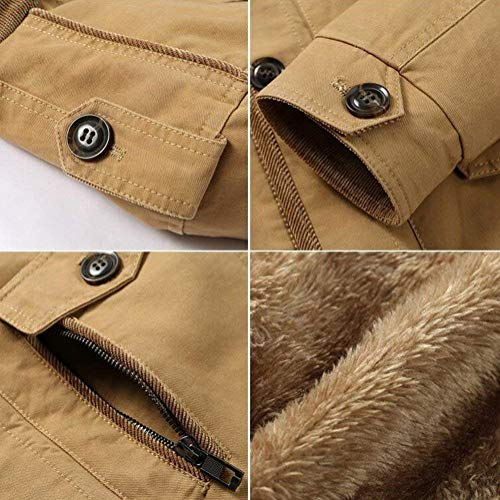 Parka Apparel Gelb Jacket Hooded Coat Thicker Detachable Hooded City Men's Winter Leisure Cashmere Cotton pIPggq