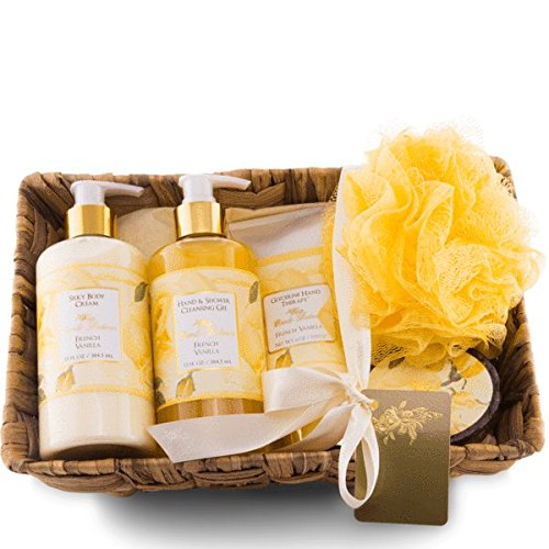Camille Beckman Essentials Gift Basket, French Vanilla, Glyc