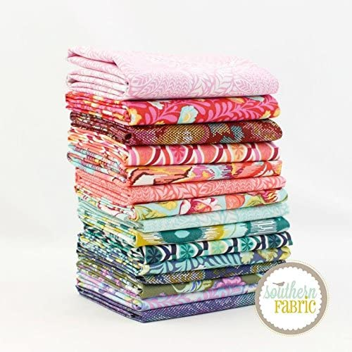 B078VJ8TQ1 Free Spirit Eden Half Yard Bundle (15 pcs) - Tula Pink 18 x 44 inches (45.72cm x 111.76cm) Fabric cuts DIY Quilt Fabric 51dEqYHGZoL.