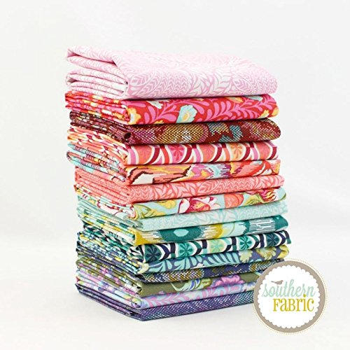 Eden Half Yard Bundle (15 pcs) - Tula Pink - Free Spirit 18 x 44 inches (45.72cm x 111.76cm) fabric cuts DIY quilt - Bundle Yard