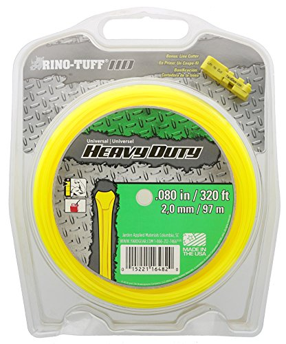 Rino Tuff 16482 .08 Inch x 320 Foot Long Triangle Shaped Heavy Duty Trimmer Line w/ Included String - String Heavy Trimmer Duty