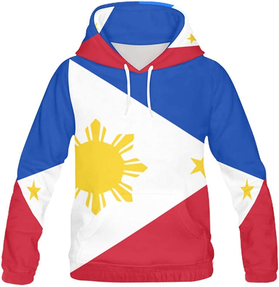 Lumos3DPrint Philippines Flag Women's Pullover Hooded Sweatshirt