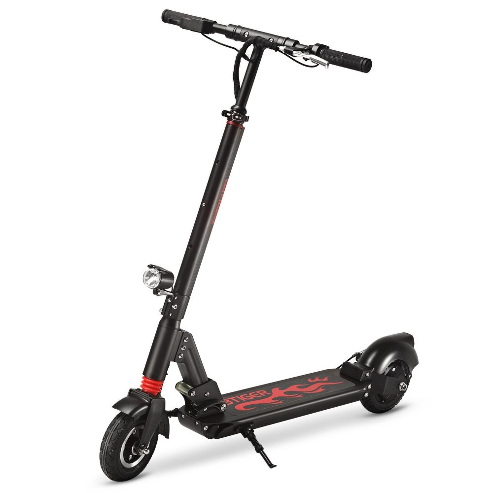 GBtiger Foldable Adult Scooter, 220Lb Weight Limit, Fender Brake, Folds Down Adjustable Handle Bars Smooth & Fast Ride