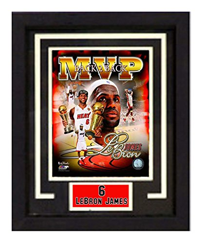 NBA Miami Heat 11x14 Deluxe Frame LeBron James Print - Deluxe Frame Miami Heat