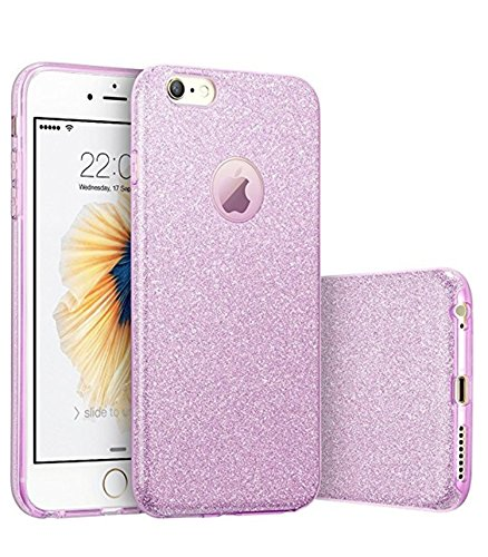Hovisi Glitter Protective Cover [Soft TPU Cover + Glitter Paper + PP Inner Layer] for iPhone 6 / 6S 4.7 inch (Color4)