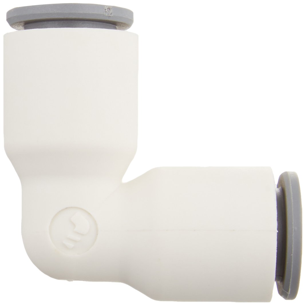 Parker Hannifin 6302 08 00WP2-pk5 LIQUIfit Union Elbow Fitting for 5//16 or 8 mm Push-to-Connect Tube x 5//16 or 8 mm Push-to-Connect Tube Polymer Body Parker Hannifin Corporation Pack of 5